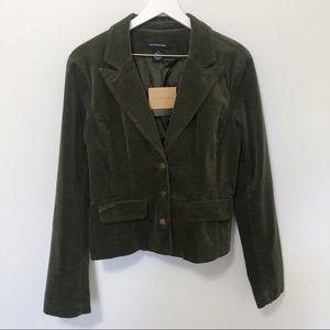 Calvin Klein Jeans Olive Green Corduroy Blazer